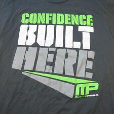 MUSCLE PHARM MP CONFIDENCE BUILT HERE BODY BUILDING GYM TEE T SHIRT Sz Mens S