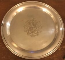 Heraldic Lion Tray Webster Wilcox International Silver Co Coat Arms Platter 7872