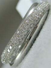 White Gold Crossover Band 7Mm #Rg9942Wd Modern Pave Diamond Right Hand Ring 18Kt