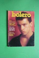Bolero 13/1985 Eros Ramazzotti GABRIEL BYRNE ROBERT WAGNER Mick Jagger M. Streep