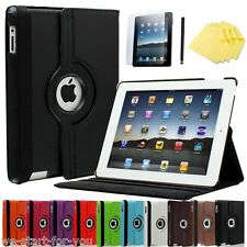 ★360° Apple iPad 4/3/2 Schutz Hülle+Folie Kunstleder Tasche Smart Cover Case 10F