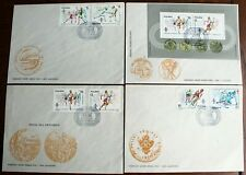 Poland – 1984 Olympic Games – Set & Ms – All on Official Fdcs (4)