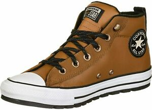 Converse Chuck Taylor All Star Street Mid Leather Sneaker, 166073C Mul Sizes Tan