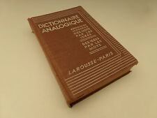 Dictionnaire Analogique Répertoire Moderne des Mots Larousse 1937