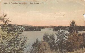 H71/ Paul Smith's New York Postcard c1910 Upper St Regis Lake Islands 218