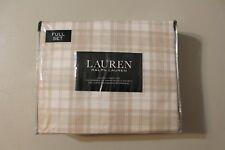 Ralph Lauren Full Sheet Set Plaid 4pc Tan Cream Bed Scottish Cottage Country
