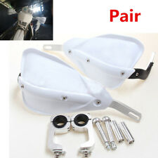 Pair White Handguard MX Motorbike Dirt Bike Quad For RENTHAL PROTAPER Handlebar