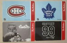 Lot 4 Tim Hortons NHL Gift cards Toronto Maple Leafs Montreal Canadiens Gretzky
