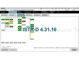 ISTA-D 4.31.16 Diagnostics E, F, G, I. Coding F, G, I - series 1985 - 2021