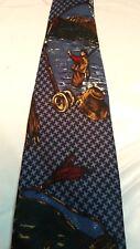 Van Heusen 417 Novelty Fly Fishing Necktie 60in Blue Outdoor