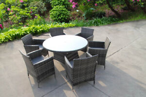 BISTRO GARDEN RATTAN WICKER OUTDOOR DINING FURNITURE SET TABLE CHAIRS 2 4 6 TWO