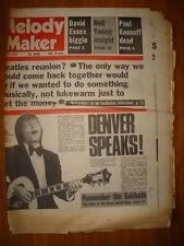 MELODY MAKER 1976 MAR 27 JOHN DENVER DAVID ESSEX YOUNG