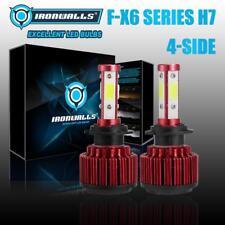 Super Bright H7 375000LM 4sides LED Headlight High or Low Beam Bulbs Kit 6000K