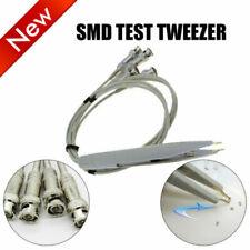 Smd Test Tweezer Kelvin Clip W 4 Bnc Test Probe Leads Cable For Lcr Bridge Meter
