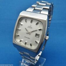 Stainless Steel Strap Square OMEGA Wristwatches