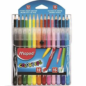 PENCIL CRAYONS COLOURING FELT TIPS Maped Combination Pack Color'Peps MARKERS
