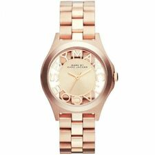 MARC BY MARC JACOBS Henry Transparent Dial Rose Gold-tone Ladies Watch MBM3293