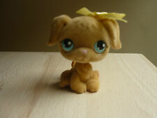 LPS LITTLEST PETSHOP FUZZY RETRIEVER 320 RETIRED WITH YELLOW BOW RIBBON