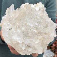 4.29LB  Natural Clear White Quartz Crystal Cluster Rough Healing Specimen