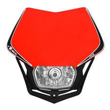 MASCHERINA PORTAFARO RACETECH V-FACE ROSSA (Red Headlight) - COD.R-MASKRSNR008