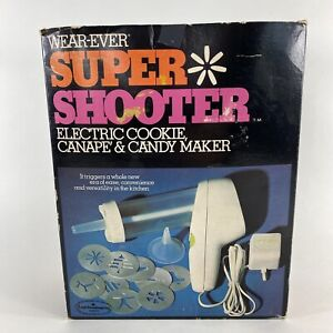 VTG Wear-Ever Super Shooter Electric Cookie Press Gun 70001 Complete w/ Manual
