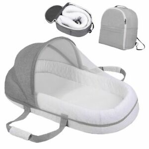 Baby Bed Foldable Portable Multi-Function Sleeping Nest Travel Crib Backpack