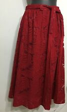 Bloody Red Full Beautiful Sexy Lace With Lining Women Zip Up Skirt Size 24
