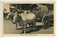Native Ox Cart in Bombay INDIA Mumbai Antique Transportation SS Laconia 1923