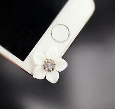 Anti Dust Plug For iPhone 6SPlus 6S 6plus 5C 5S 5 Diamond Flower White