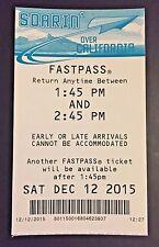 One Disneyland California Adventure Soarin' Over California Fastpass - NLA