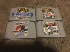 (4) RACING GAMES FOR NINTENDO 64, TOP GEAR RALLY 2/RUSH 2/RIDGE RACER/F-1 GRAND