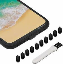 iPhone 7 Charging Port Cover Lightning Plug Set 10 Pack Anti Dust Silicone Cap