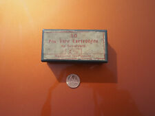 Empty Tin Box Paper Label 7mm Pin-Fire Cartridges for Revolvers Ammo