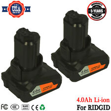 2x New For Ridgid 12V 4.0Ah Hyper Lithium Ion Battery AC82059 Fits All 12V Tools