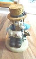 Cute Lefton 1995 Bell Jarratt Boy w Piggy Bank Figurine