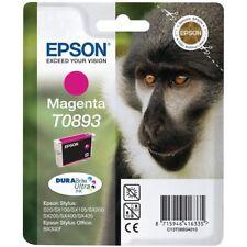 Genuine Epson T0893 DuraBrite Ultra Monkey Magenta Ink Cartridge, C13T08934010