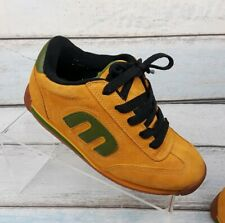 Etnies Lo-Cut 2 Womens Yellow & Green Suede Skateboarding Shoes US 5