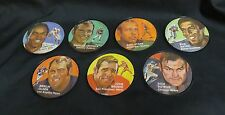 "Lot of 7 VTG Football 1971 Mattel Instant Replay Mini Records 2 1/2"" Diameter"