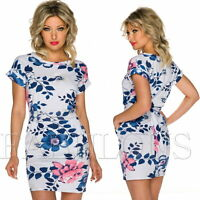New Sexy European Floral Flower Print Mini Dress Party Summer Wear Size 8 10 S M