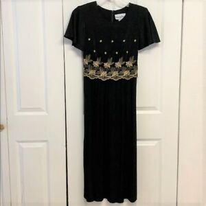 Another Thyme Maxi Dress Size 12 Embroidered