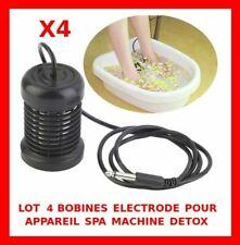 LOT 4 ELECTRODES BOBINES DETOX RECHANGE APPAREIL SPA MACHINE SOIN BEAUTE GRATUIT