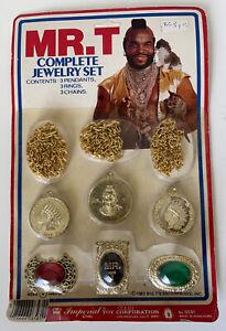 Rare 1983 Imperial Mr. T Jewlery Set Vintage MOC MIP Rack Toy