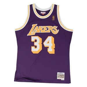 Shaquille O'neal Los Angeles Lakers Road Purple Swingman Jersey Mitchell & Ness