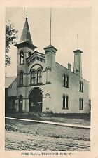 Fire Hall in Friendship NY Postcard 1911