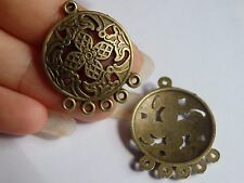 10 chandelier earring finding charms bronze antique clasp jewelry making UK JF37