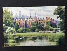 Vintage Postcard - Berkshire #7 RP Eton College By Davidson Bros 1905