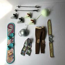 My Scene Chillin' Out Barbie Doll Snowboard Ski Pants & Accessories Lot
