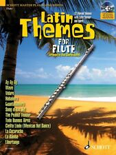 Latin Themes for Flute Instrumental Play-Along Book and CD NEW Schott 049017047