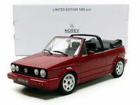 NOREV 188403 188404 188405 VW GOLF Mk1 CABRIO model road cars blue/red 1992 1:18