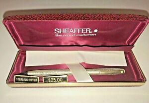 Sheaffer Sterling Silver Mechanical Pencil Orig. Box New w/ $25 price tag NIB